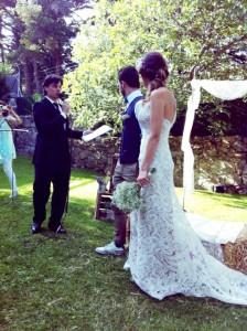 Maestro de Ceremonias al a ire libre boda